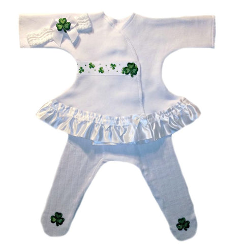 Baby Girls' Luck of the Irish Sassy Dress Sized For Preemie and Newborn Babies