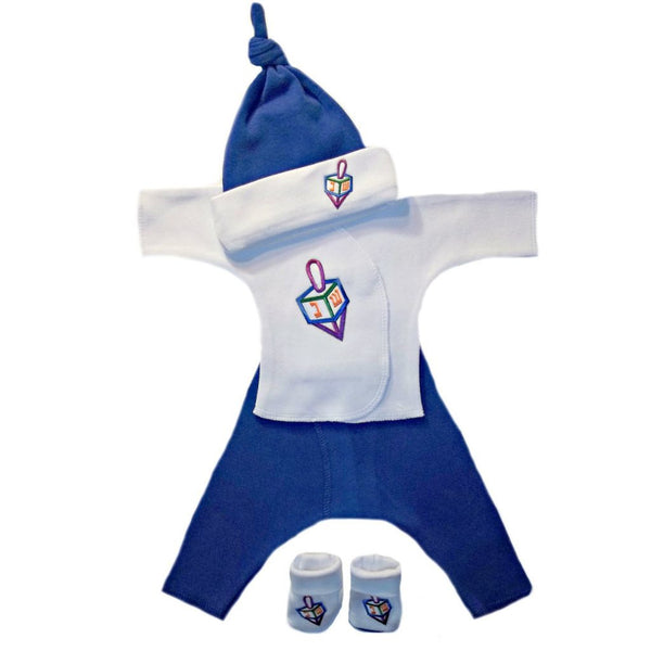 Baby Boy Darling Dreidel Clothing Set Sized for Preemie and Newborn Babies