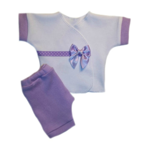 Baby Girls' Delightful Lavender Shirt and Shorts Clothing Outfit