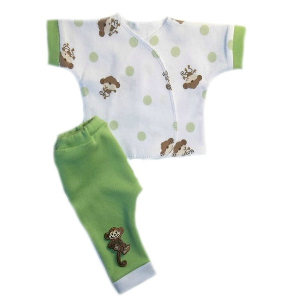 Baby Boys' Playful Monkey Shirt and Pants Clothing Set