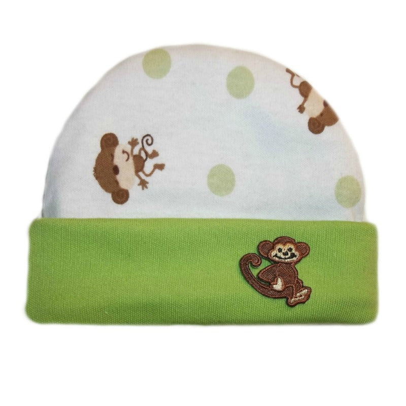Puppy Friends Knotted Baby Boy Hat 5 Sizes Preemie and Newborn to 6 Months