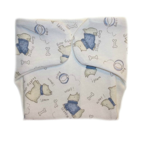 Newborn and Preemie Baby Boys' Scotty Dogs Diaper Cover