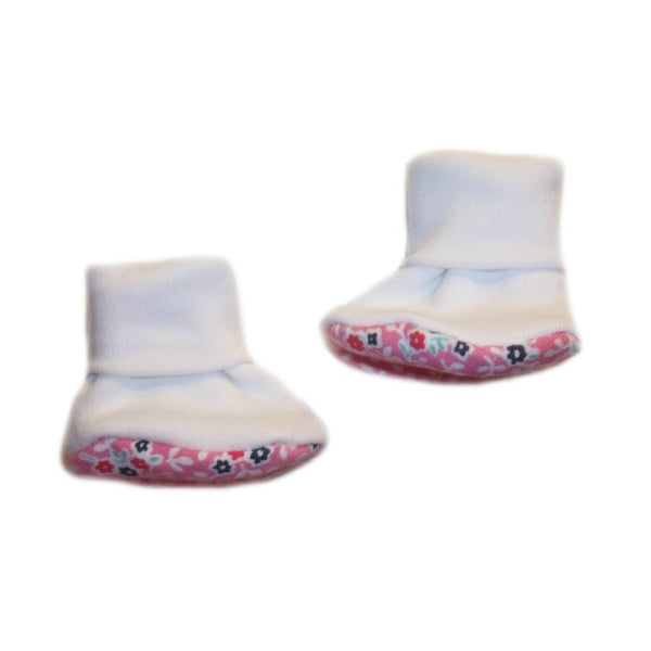 Baby Girls' Summertime Flowers Booties