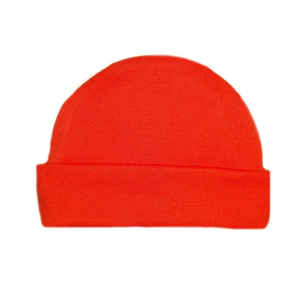 Newborn and Preemie Orange Capped Unisex Baby Hat