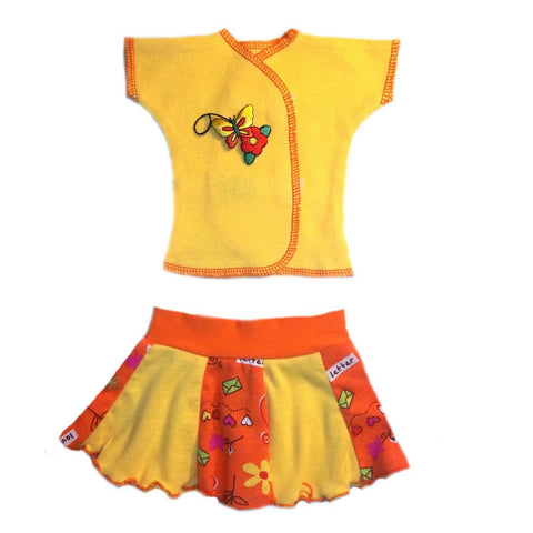 Baby Girls' Summer Fun Shirt and Skirt Set