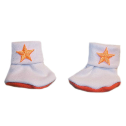 Baby Girls' Neon Orange Stars Booties