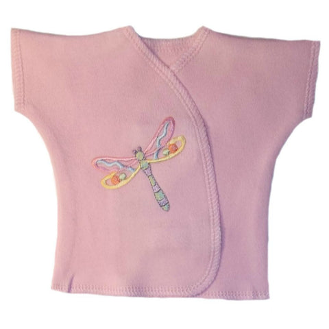 Baby Girls' Pastel  Dragonfly Shirt for Micro Preemie, Premature Babies and Newborns,