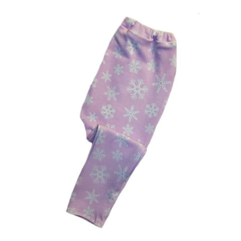 Toddler, Newborn Preemie Pink Snowflake Baby Girl Winter Leggings