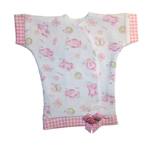Baby Girls' Sweet Cow Pink Gingham Shirt