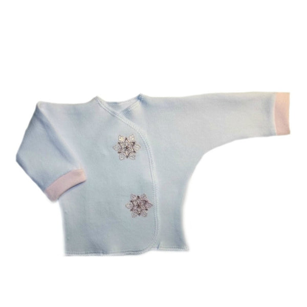 Pink Snowflakes Baby Girl Long Sleeve Shirt