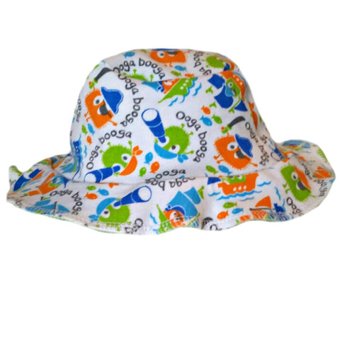 Baby Boys' Baby Boy Pirate Ooga Booga Sun Hat Sized For Preemie and Newborn Babies