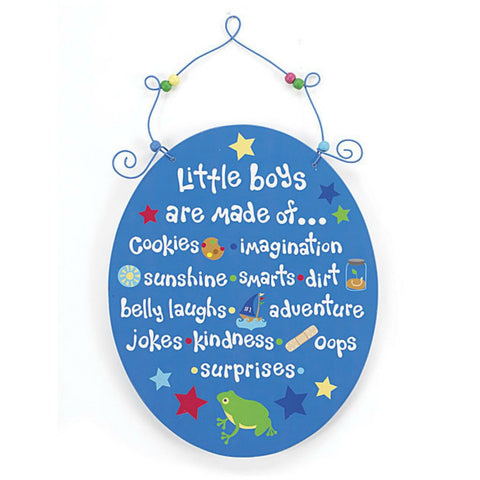 Baby Boys' Little Boys Wall Plaque