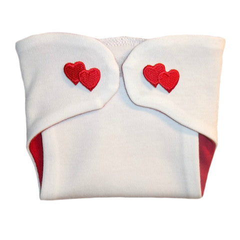 Double the Love Unisex Baby Diaper Cover with Hearts