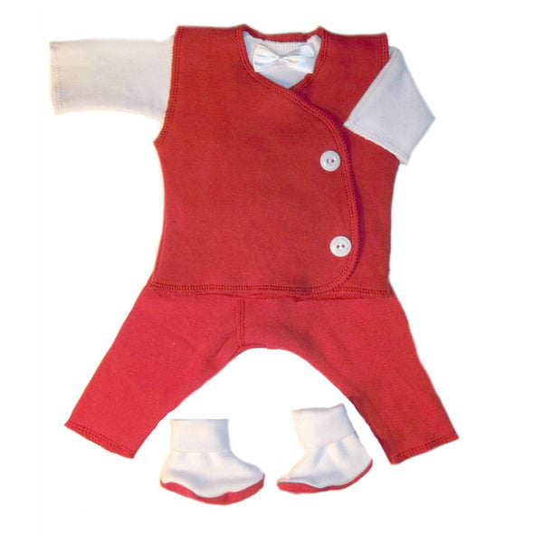 Baby Boys' Adorable Red Vest Suit for Preemie and Newborn