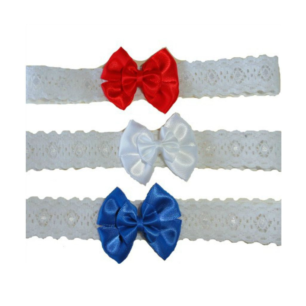 Baby Girls  Double Bow USA Headbands f0aecba1bc9