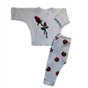 Baby Girls' Pretty Red Rose Long Sleeve Shirt and Pants