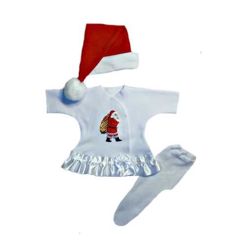Baby Girls' Here Comes Santa Christmas Dress 4 Preemie and Newborn Sizes