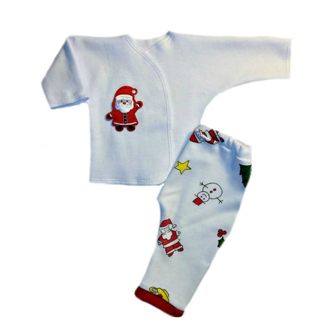 Adorable Santa Claus Unisex Baby 2 Piece Christmas Clothing Outfit