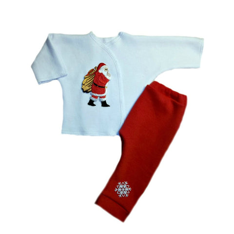 Busy Santa Claus Unisex Baby 2 Piece Clothing Set