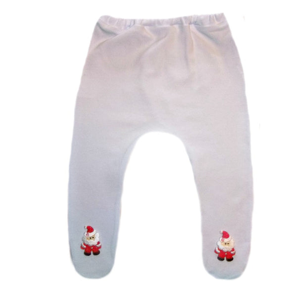Baby Girl White Christmas Santa Claus Tights