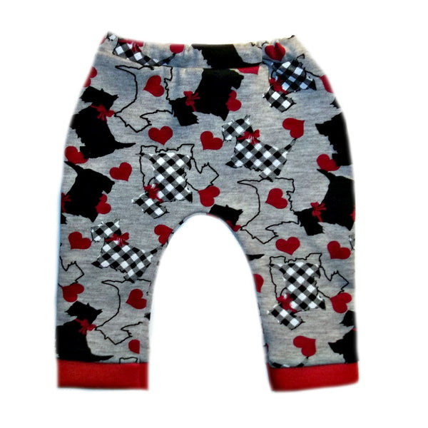 Preemie and Newborn Scottie Dog Unisex Baby Legging Pants