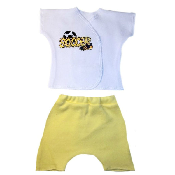 Baby Boys' Soccer Star Shorts Set for Premature babies, Micro Preemie and Newborns
