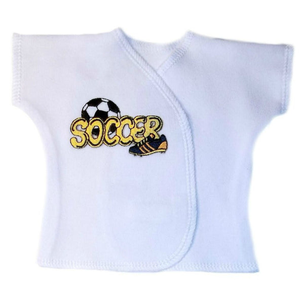 Baby Boys' Soccer Star Shirt Sized For Preemie and Newborn Babies