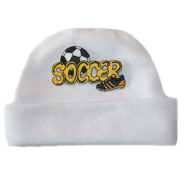 Baby Boy Newborn and Preemie Soccer Hat