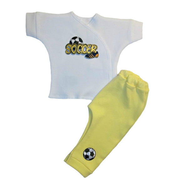 Baby Boys' Soccer Star Clothing Set Sized For Preemie and Newborn Babies