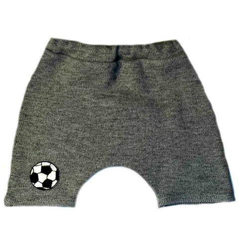 Unisex Baby White or Gray Soccer Shorts