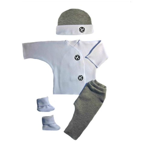 Baby Boy Gray Soccer Clothing Outfit Preemie Newborn