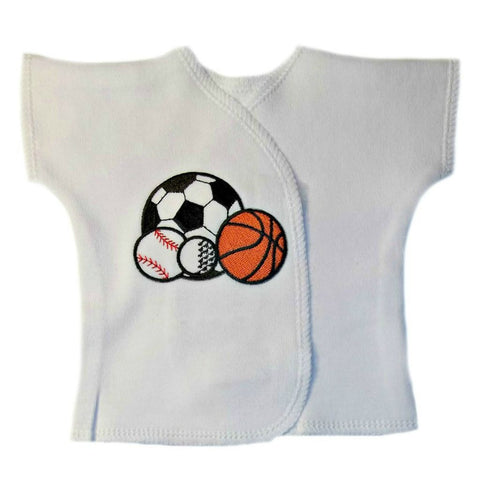 Baby Boys' Sports Balls Shirt Sized For Preemie and Newborn Babies