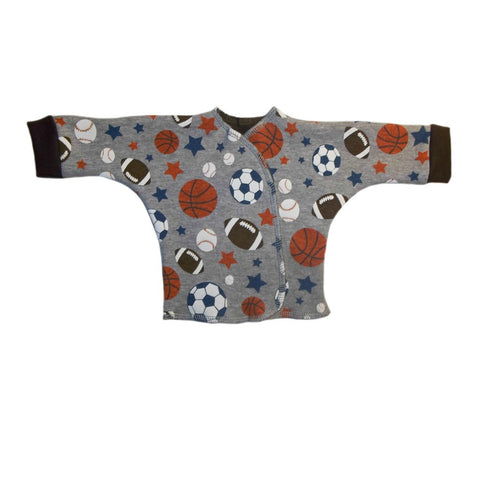 Baby Boys' Gray Sports Balls Long Sleeve Shirt