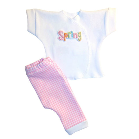 Baby Girls' Spring is Here Pink Gingham Pants Clothing Outfit