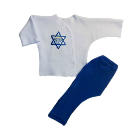 Baby Boys' Jewish Star of David Two Piece Clothing Outfit