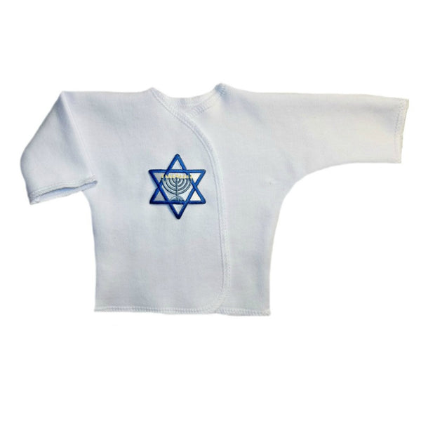 Baby Boys' Jewish Star of David Long Sleeve Shirt