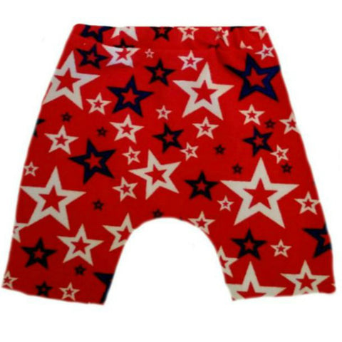 Toddler, Newborn and Preemie Bike shorts with Stars
