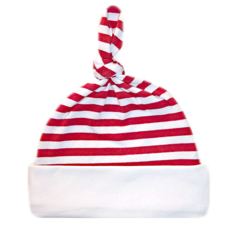 Toddler, Newborn and Preemie Unisex Baby Red and White Striped Hat