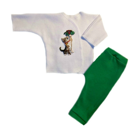 Unisex Baby Kitten's Christmas Surprise Clothing Set