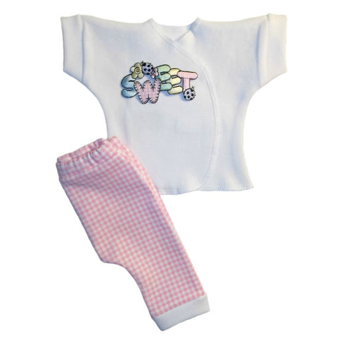Baby Girls' Sweet Pink Gingham Pants Clothing Outfit