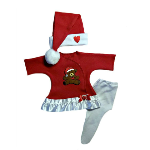 Baby Girls' Teddy Bears' Christmas Dress 4 Preemie and Newborn Sizes