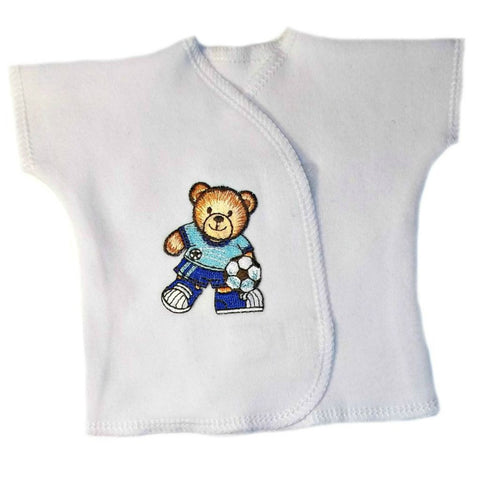 Baby Boys' Soccer Bear White Shirt