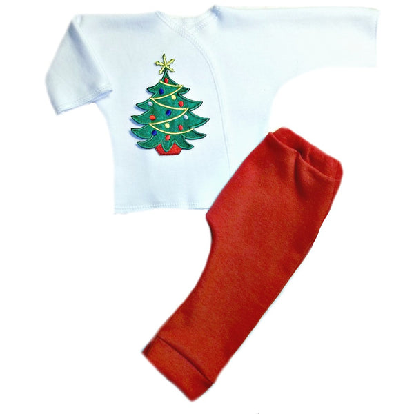Preemie and Newborn Oh Christmas Tree Unisex Baby 2 Piece Clothing Outfit
