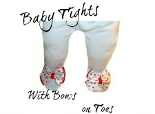 Baby Girl Tights with Bows on Toes
