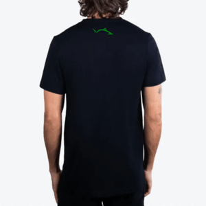 Bright Green Pro Fish Outline Stealth Black Tri-Blend T-Shirt Shirts Line Cutterz Small