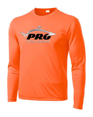 Pro Fish Gear Long Sleeve Shirt - Blaze Orange Shirts Pro Fish Gear