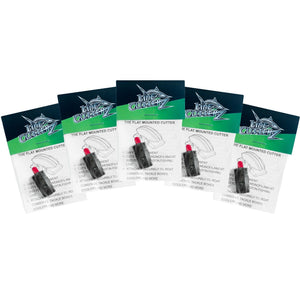 NEW RELEASE! - 5 PACK! Line Cutterz Flat Mount Fishing Line Cutter - Black Cutter Ring Line Cutterz