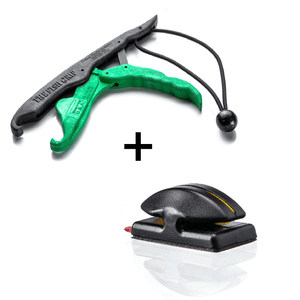 "COMBO DEAL - ""Limited Edition"" Line Cutterz Flat Mount + Lunker Tamers by The Fish Grip Combo Cutter Line Cutterz Black/Green"