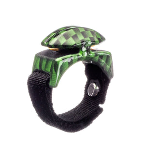 Green Carbon Fiber Wrapped Line Cutterz Ring Cutter Ring Line Cutterz