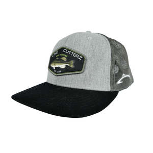 *NEW* Line Cutterz Gray Bass Patch Snapback Hats Line Cutterz